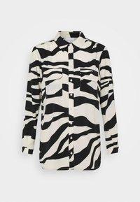 VIOMINA - Button-down blouse - black