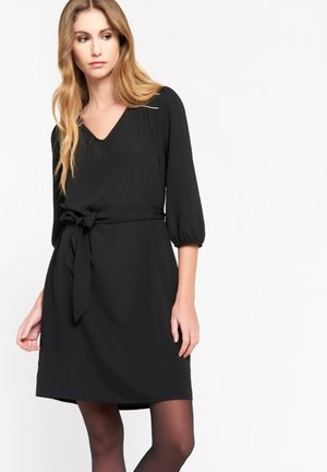 WITH BELT - Day dress - black