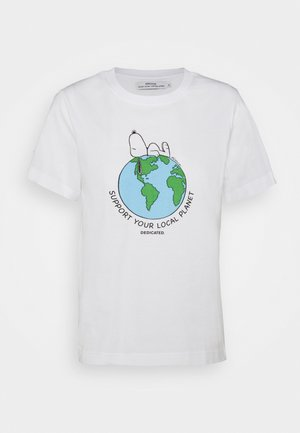 MYSEN SNOOPY EARTH - T-shirt imprimé - white
