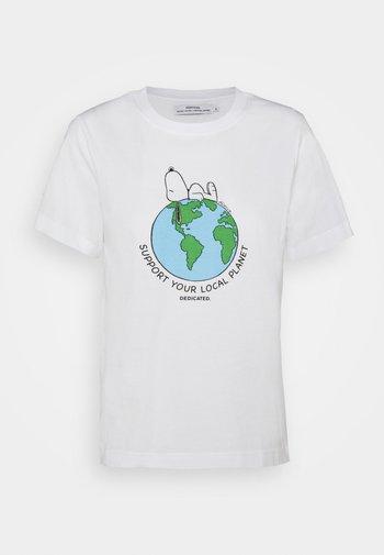 MYSEN SNOOPY EARTH - Camiseta estampada - white