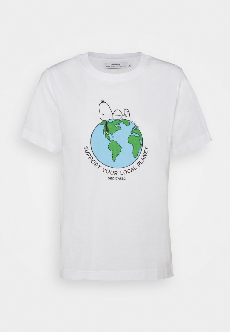 Dedicated - MYSEN SNOOPY EARTH - Print T-shirt - white