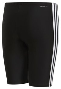 adidas Performance - 3-STRIPES SWIM JAMMERS - Swimming trunks - black/white - 1