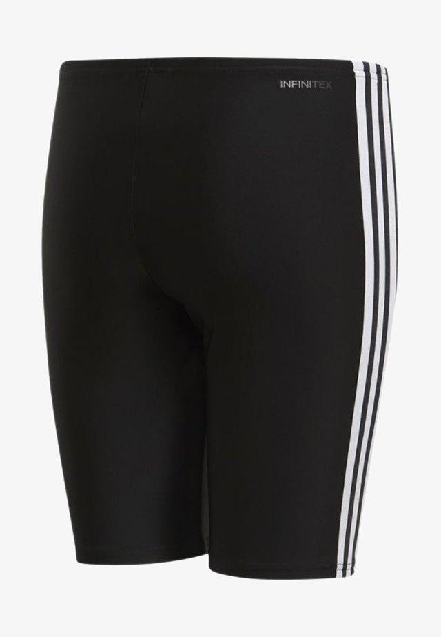 FIT 3 STRIPES PRIMEBLUE SWIM REGULAR JAMMER - Swimming trunks - black/white
