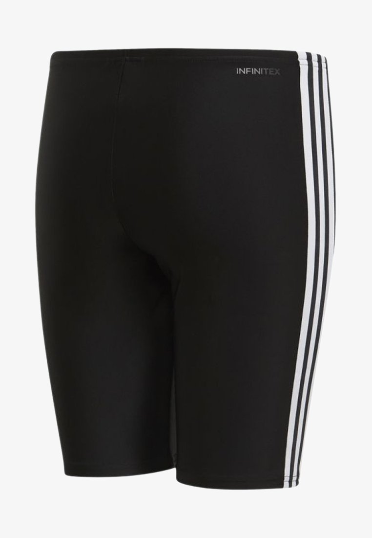 adidas Performance - FIT 3 STRIPES PRIMEBLUE SWIM REGULAR JAMMER - Zwemshorts - black/white