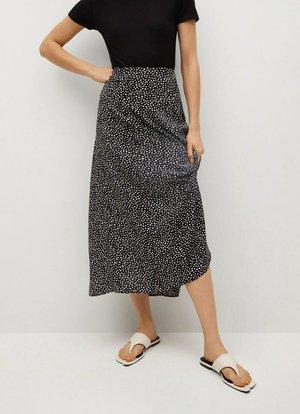 BOMBAY - A-line skirt - schwarz