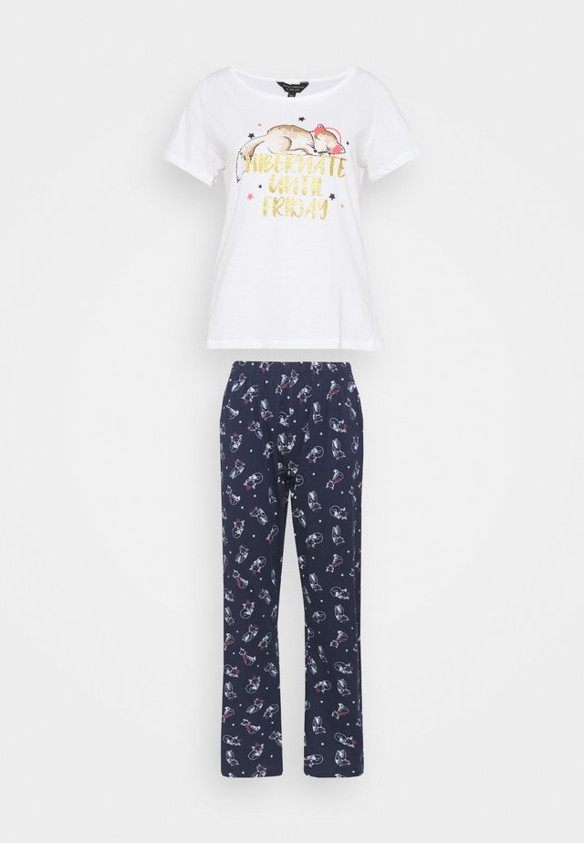 HIBERNATING FOX NOVELY FOLDED SET - Pyjama set - navy