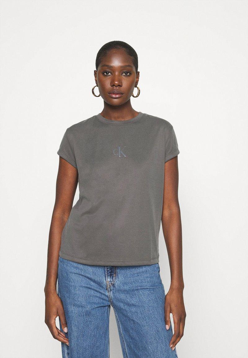 Calvin Klein Jeans - DRAPEY CAP SLEEVE  - Basic T-shirt - black