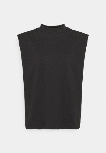 SLFLEANNE PADDED TEE - Print T-shirt - black