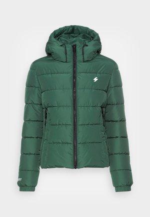 HOODED SPIRIT SPORTS PUFFER - Zimní bunda - dark green