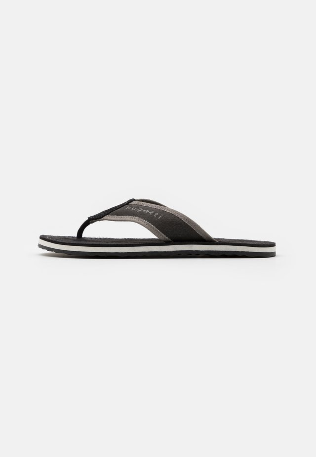 ARTRIANIC - T-bar sandals - black/light grey
