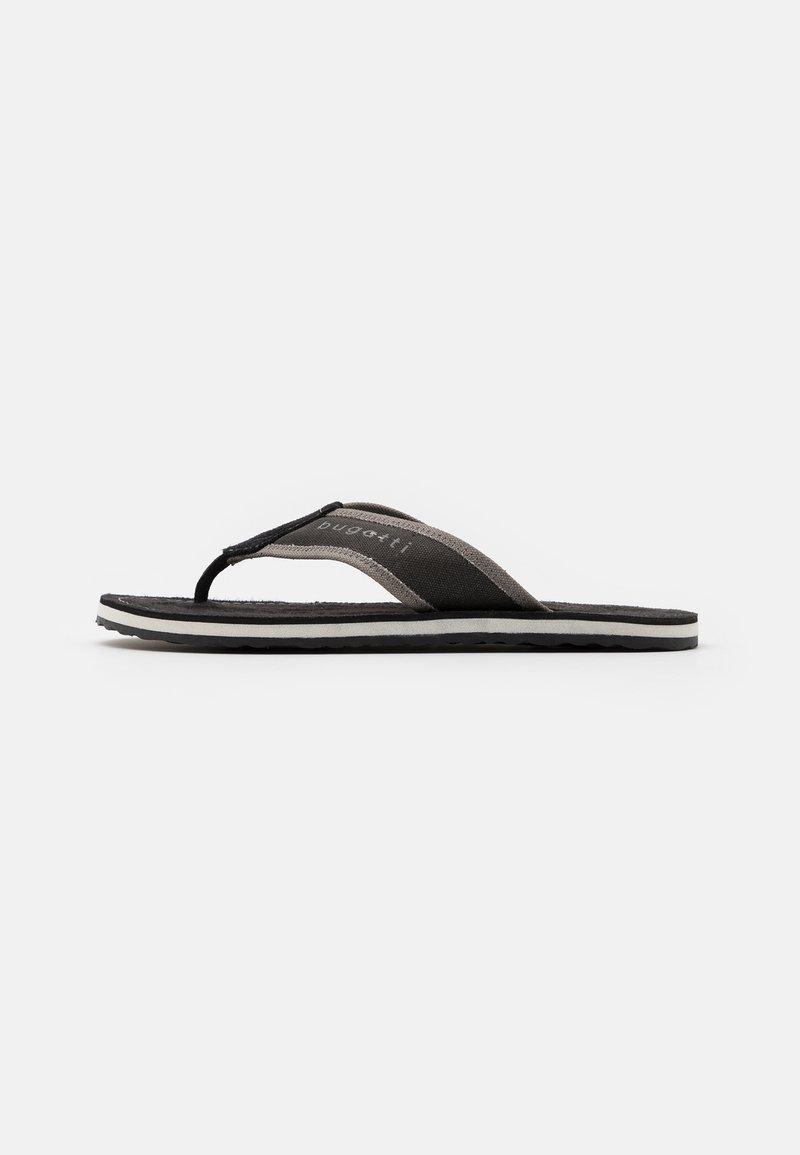 Bugatti - ARTRIANIC - T-bar sandals - black/light grey