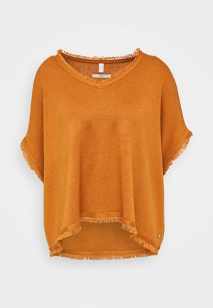 PONCHO CROP - Pláštěnka - rust brown