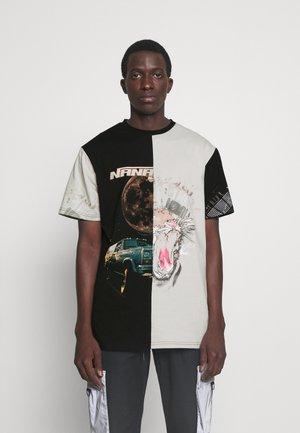 CREST - T-shirt print - black smoke