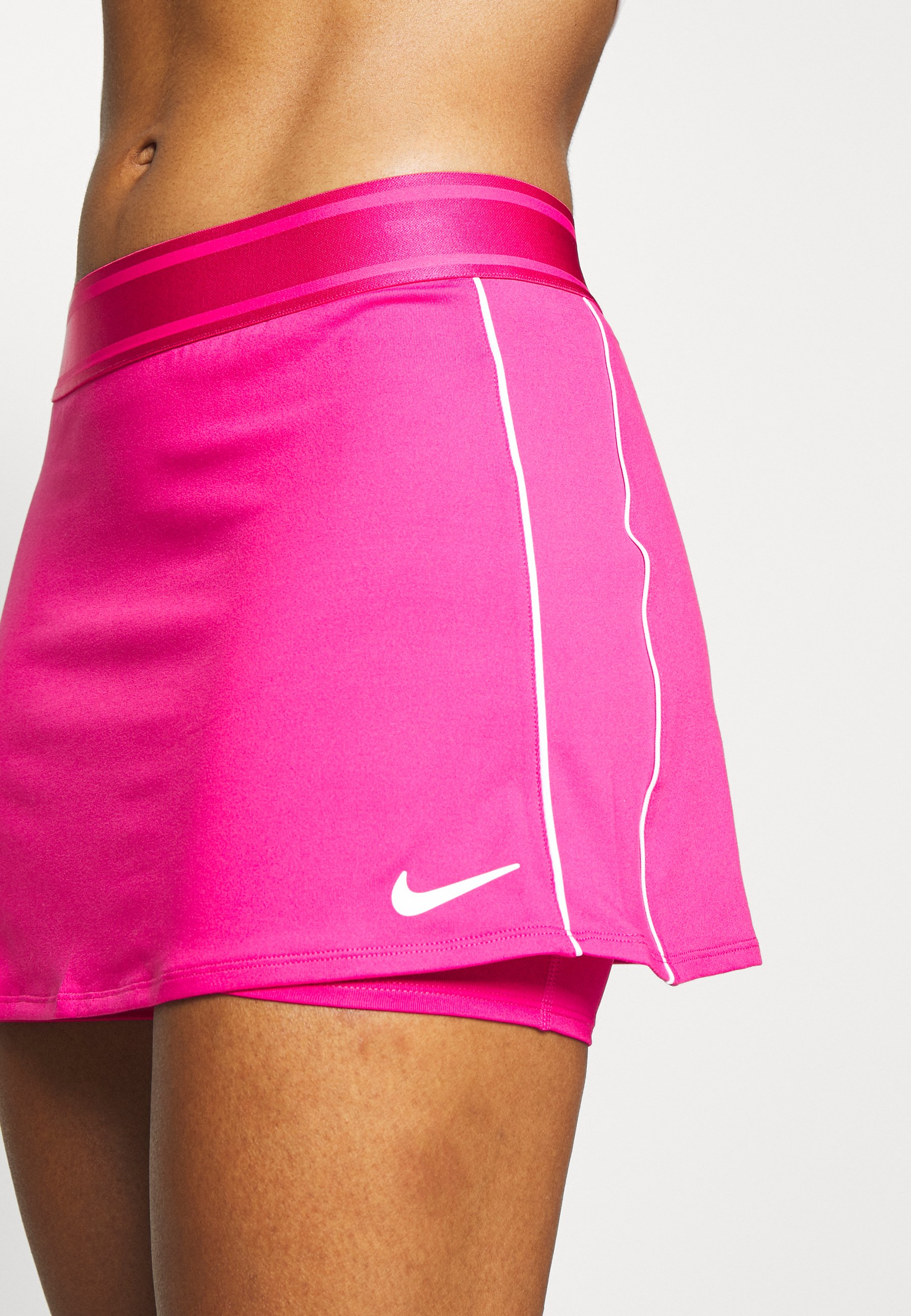 Nike Performance DRY SKIRT - Sports skirt - vivid pink/white/white aR8Oq