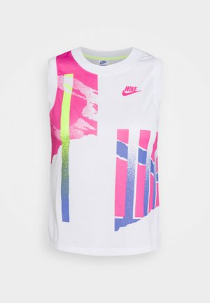 SLAM TANK  - Sports shirt - white/hot lime/sapphire/pink foil