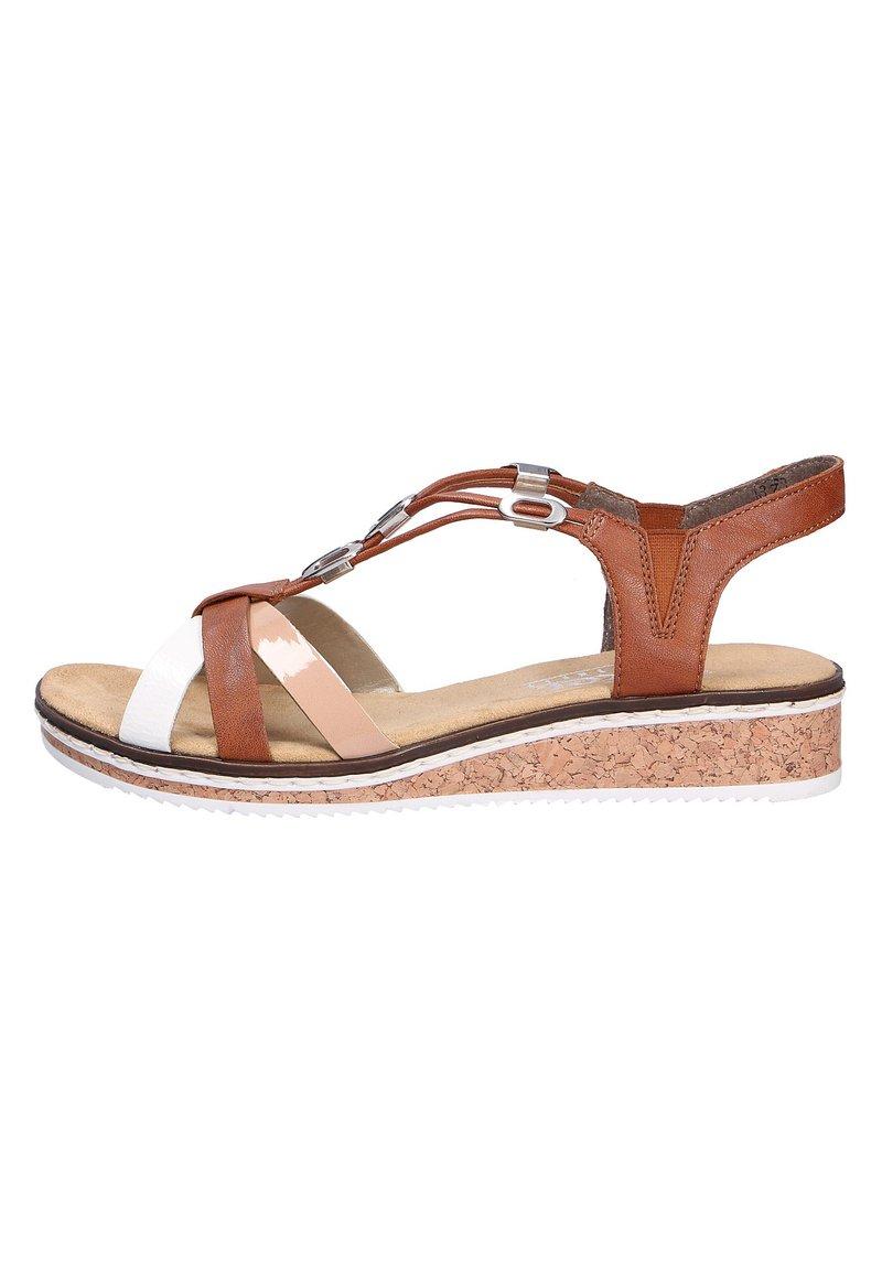 Rieker - Sandals - biancocognacskin (81)