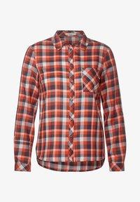 Cecil - MIT KAROMUSTER - Button-down blouse - orange - 3