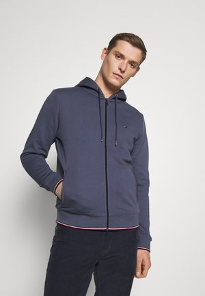BASIC HOODY - Mikina na zip - faded indigo