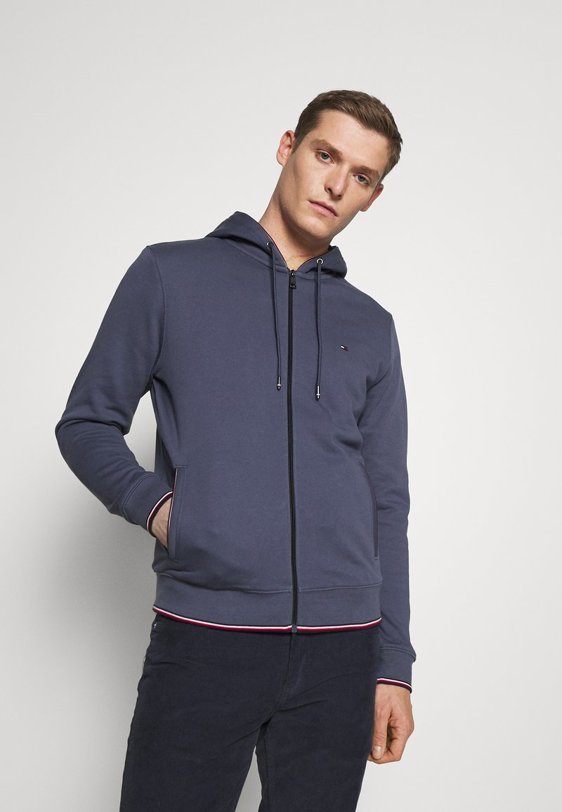 Tommy Hilfiger - BASIC HOODY - veste en sweat zippée - faded indigo