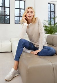 TOM TAILOR - SWEATER NEW OTTOMAN - Pullover - dusty alabaster melange - 5