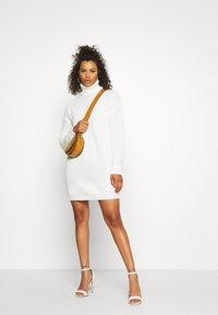 Missguided Tall - ROLL NECK BASIC DRESS - Jumper dress - off white - 1