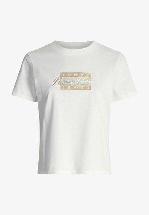 Print T-shirt - ybr white