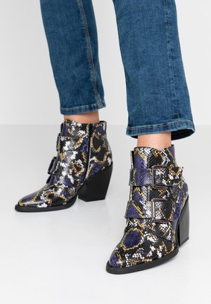CALISTA - Ankle boots - blue/multicolor