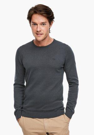 MIT LOGO-STITCHING - Jumper - dark grey