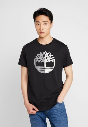 TREE LOGO TEE - T-shirt z nadrukiem - black