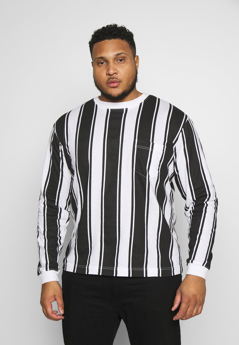 Another Influence - VERTICAL STRIPE PLUS - Long sleeved top - grey/white
