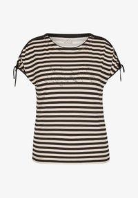 Rabe 1920 - MIT GERINGELTEM ALLOVER-MUSTER UND BINDEBäNDERN - Print T-shirt - schwarz - 0
