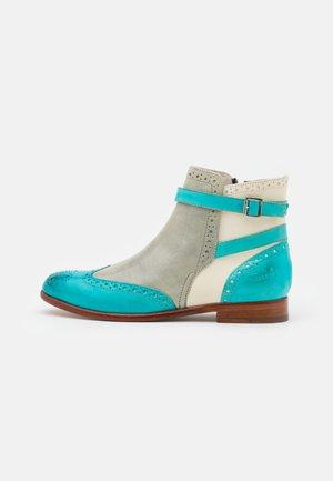 SELINA  - Boots à talons - vegas/turquoise/oxygen/white/mermaid/natural