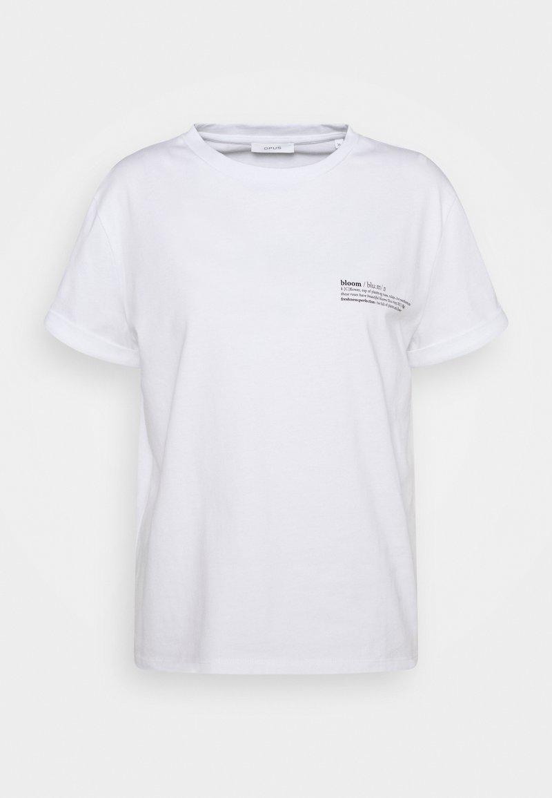 Opus - SERZ BLOOM - T-shirt print - white