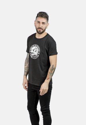 ZURICH - T-shirt imprimé - black