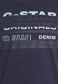 G-Star - ORIGINALS STRIPE LOGO - T-shirt con stampa - sartho blue - 5