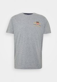 GANT - ARCHIVE SHIELD - T-shirt med print - grey melange - 3
