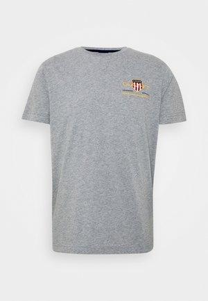 ARCHIVE SHIELD - Print T-shirt - grey melange