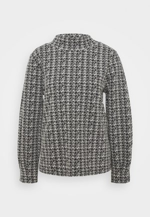 CHARLIE TUCK SLEEVE BLOUSON JUMPER - Sweatshirt - black/white