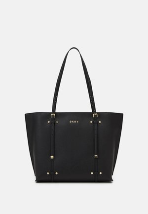 ALICE FLAP SHOULDER - Shopping bags - black/gold-coloured