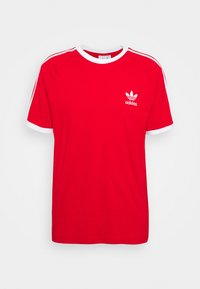 adidas Originals - STRIPES TEE - Camiseta estampada - scarlet - 4
