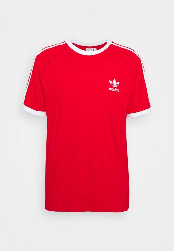 adidas Originals STRIPES TEE - T-shirt z nadrukiem - scarlet/czerwony Odzież Męska EAJK