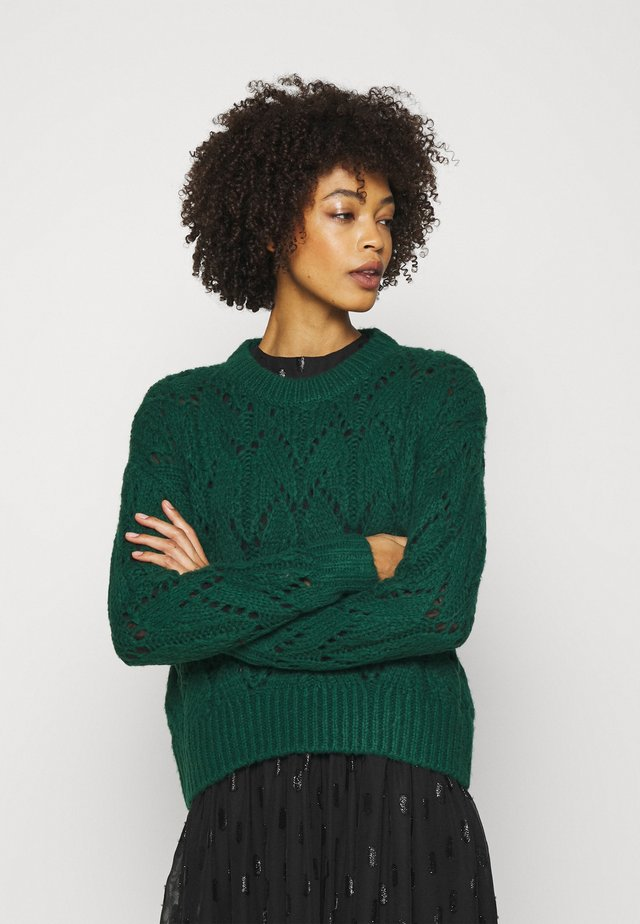 POINTELLE  - Strikpullover /Striktrøjer - dark teal green