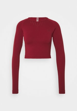 ONPJAVO CIRCULAR CROPPED - Long sleeved top - sun dried tomato