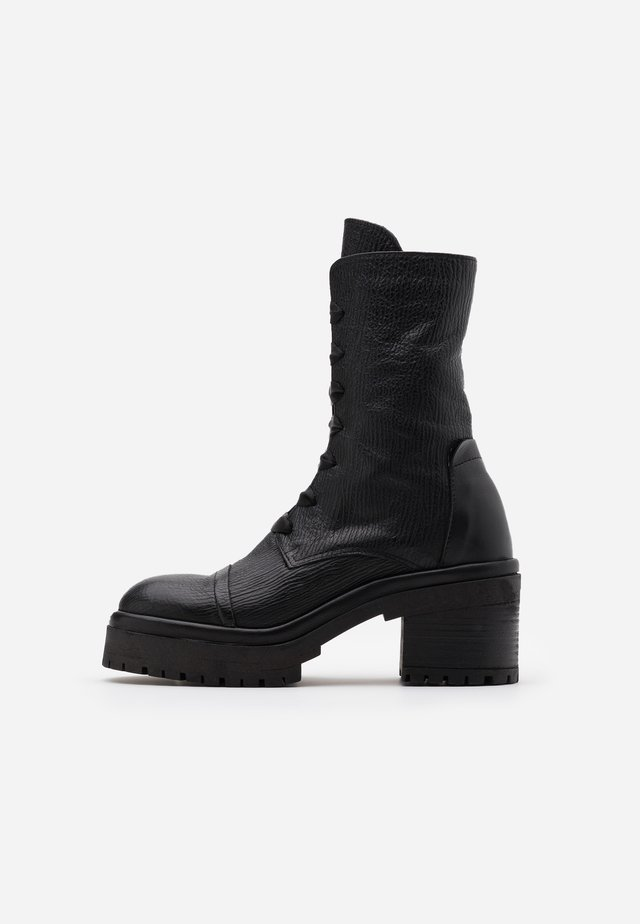 RUDY - Platform ankle boots - squalo nero