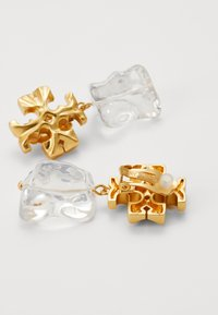 Tory Burch - ROXANNE DROP EARRING - Orecchini - gold-coloured/clear - 1