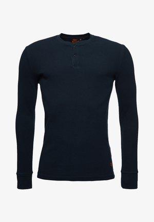 MICRO TEXTURE - Long sleeved top - nautical navy