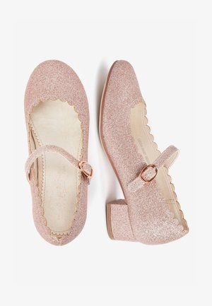 GOLD SCALLOPED MARY JANE HEELS (OLDER) - Baleríny s páskem - pink
