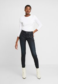G-Star - LYNN BIKER MID SKINNY - Jeans Skinny Fit - worn in tidal cobler - 1