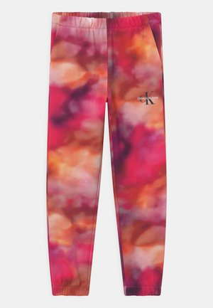 DISTORTED - Tracksuit bottoms - multicolor