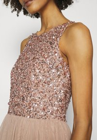 Maya Deluxe - CUT OUT BACK DELICATE SEQUIN MAXI DRESS - Occasion wear - taupe blush - 4